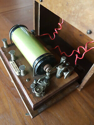 Antique Magneto Electric Shock Therapy Machine .