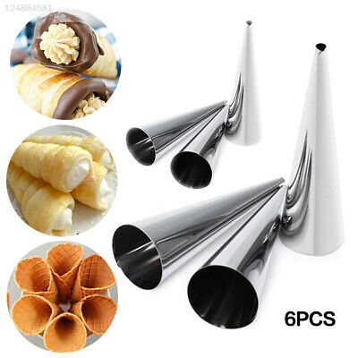FD49 6 Pcs/Pack Spiral Croissant Tool Spiral Pastry Mold Bar Diy Multi-Function