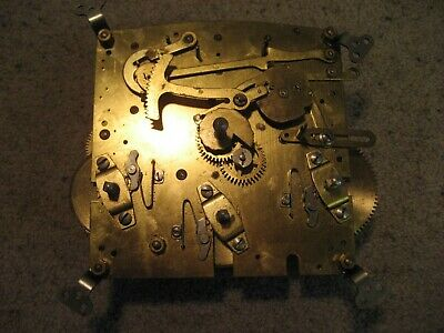 Vintage 8 Day Chime Clock Movement For Spares Or Repair