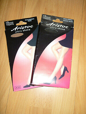 Two Pairs Of Aristoc Ultra Shine Tights - Small/Medium - Brand New