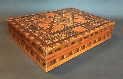 Antique Marquetry Ornately Inlaid Box