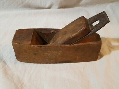 "Antique Wood Plane Made of Wood Vintage Carpenters Tool 8"" Long"