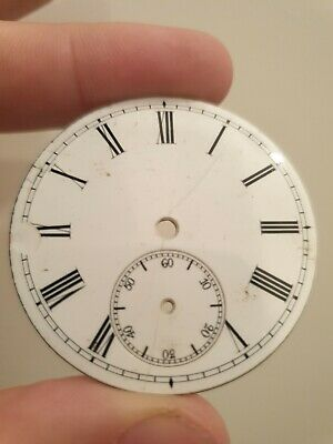Antique Pocket Watch Dial With Subsecond - 47mm