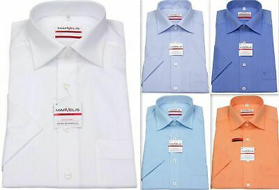 Mens Shirt Marvelis Tailored Modern Fit Non Iron Pure Cotton Short Sleeve