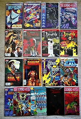 Lot of 17 Various TOPPS Comics Dracula Zorro HIGH GRADE Most sealed w/cards