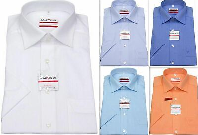 Mens Shirt Marvelis Tailored Modern Fit Non Iron 100% Cotton Short Sleeve