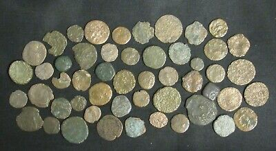 Lot of 51 Ancient Roman Coins Medium-Low Quality