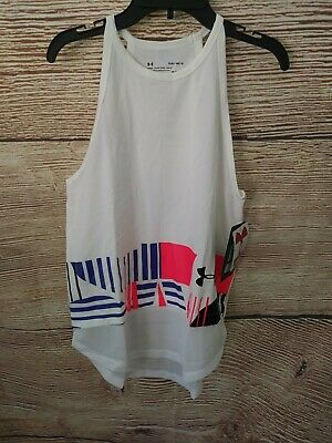 NWT YLG UA Under Armour Girls Large Racerback Tank Top Loose Fit HeatGear $24.99