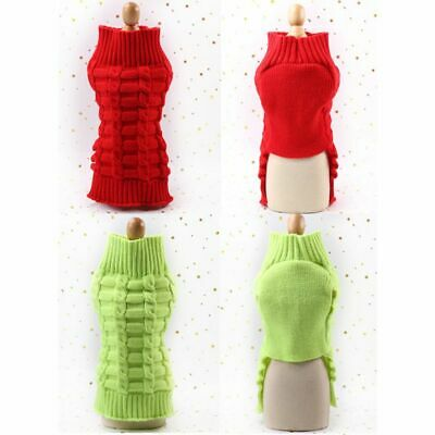 Pet Dog Cute Sweater Clothes Puppy Cat Knitwear Winter Warm Jumper Knitted Coat