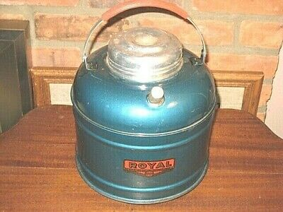 Antique Royal Water Carrier Thermos Porcelain Lined Gallon Jug Camping Vintage