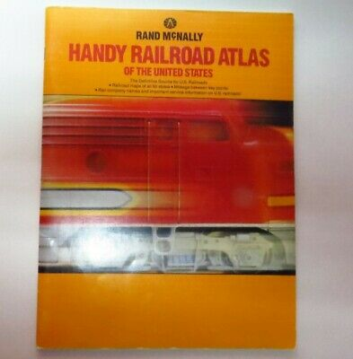 Railway Atlas of the United States | Rand Mcnally 1988 Railway Maps of 50 States