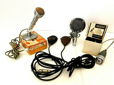Vintage Old Antique Very Nice Many Microphones Blowout Sale All For One Price