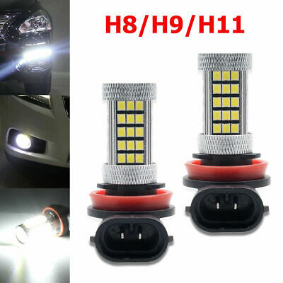 BEST!!! 1 Pair H11/H8 66SMDs LED White Fog Light Bulbs Decoder Error Free Canbus