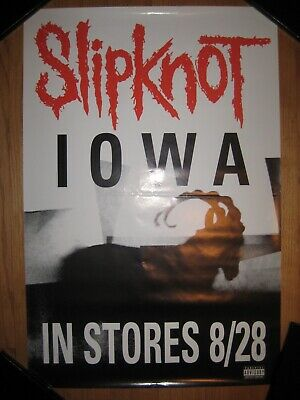 """SLIPKNOT Iowa 2001 24x36 """"In Stores 8/28"""" Release Day Promo Poster VERY RARE!"""