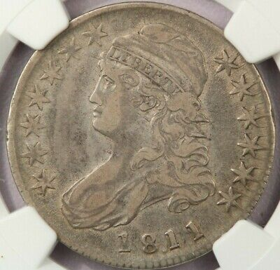 1811 1811/10 18.11 Capped Bust Half Dollar NGC VF35 dusty original surfaces!