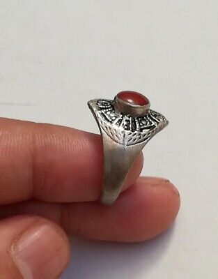 Amizing Ancient Stirling Silver Roman Ring.