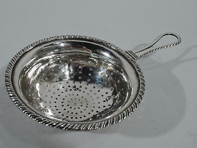 Antique Strainer - Classical Gadrooned - European Silver - C 1840