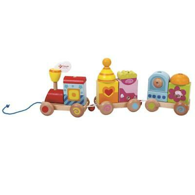 Stacking Block Train Pull Toy - Classic World Free Shipping!