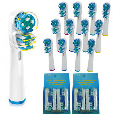 20pcs For Braun Oral B Dual Clean Replacement Electric Toothbrush 2 Brush Heads