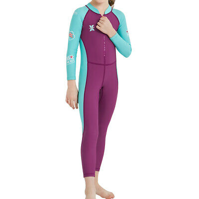 Children Diving Suits One-Piece Long Sleeve Sun Protection Swimming Clothing