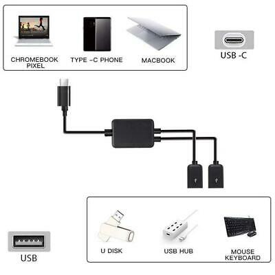 Dual Micro USB Host OTG Cable with USB Power For Tablet PC and Smart Phone Black