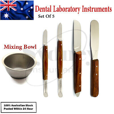 Dental Plaster Knife Wax Modeling Mixing Instruments & Bone Mixing Bowl Steel