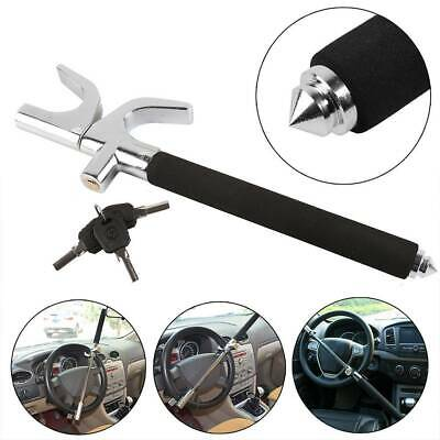 Universal Heavy Duty Car Steering Wheel Lock Anti Theft Clamp Safety Lock&3 Keys
