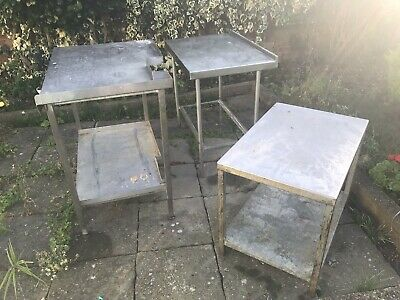 used commercial stainless steel 3 tables