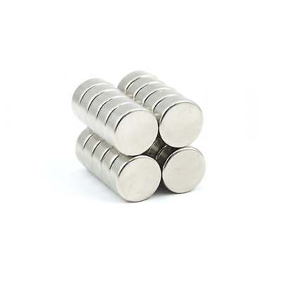 Strong powerful round N52 10mm dia x4mm Neodymium disk magnets SMALL PKS craft
