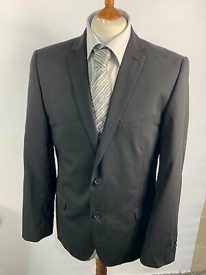 Mens Ted Baker Endurance Black Wool Button Up Smart Suit Jacket Blazer 42 R