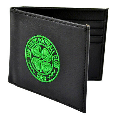 Official CELTIC Football Club Crest Embroidered Leather Wallet Gift