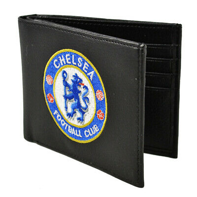 Official Chelsea Football Club Crest Embroidered Leather Wallet Gift