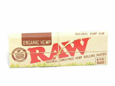 6 packs RAW Organic Hemp Natural UNREFINED rolling paper size 1 1/4 Cigarette