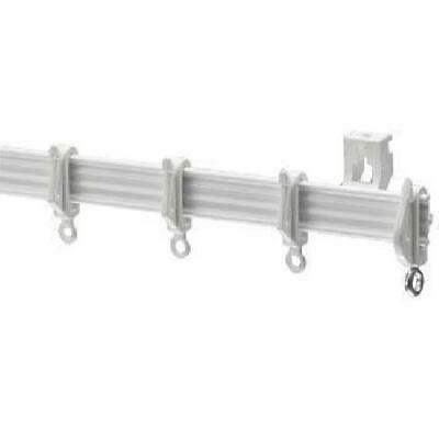 HARRISON DRAPE WHITE Alluminium Curtain Track ALL FITTINGS INCLUDED Trimmable