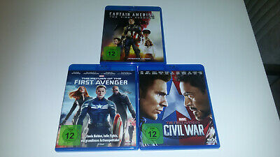 Marvel - Captain America 1 2 3 **First Avenger**The Return**Civil War**3 Blu-Ray