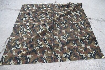 Romanian Army Camo Poncho  Shelter Quarter Tarp Leaf  Pattern M94 Mint Condition
