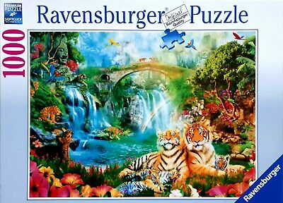 Ravensburger Tiger Grotto 1000 piece jungle wildlife jigsaw puzzle 19373
