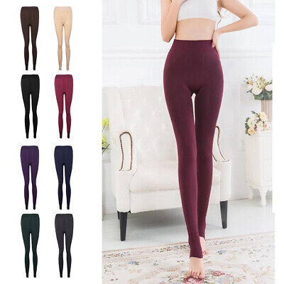 Lady Winter Thermal Warm Thick Fleece Lined Slim Leggings Stretch Pants