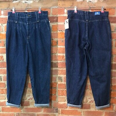 VINTAGE HIGH WAISTED MOM JEANS SIZE 12 W31 L28 DARK BLUE DENIM by CHIC (mj43)