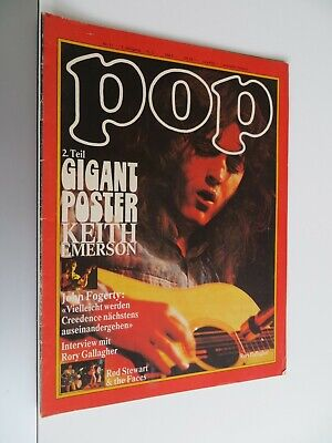 Pop 11/1972 , Musik Magazin, Frank Zappa, CCR, Rory Gallagher Poster