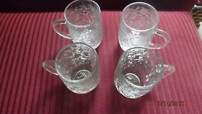 Four Princess House Fantasia Mugs/cups with handles- Excellent Condition
