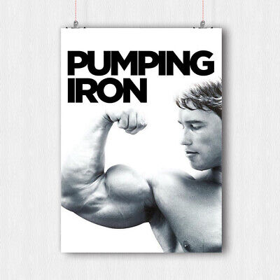 Arnold Schwarzenegger Poster Fitness Gym Quote Muscles Print -A3 A4 Size
