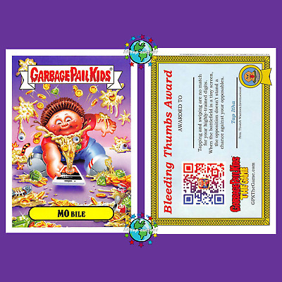Garbage Pail Kids Revenge Of Oh The Horror-Ible Mo Bile Gpk Game Promo Card 2019