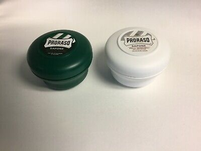 Proraso Shaving Soap - 2 Bowls 150 ml each - Normal and Sensitive Skin