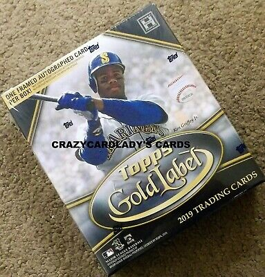 2019 Topps Gold Label Baseball Hobby Box Free Same Day Priority Shipping