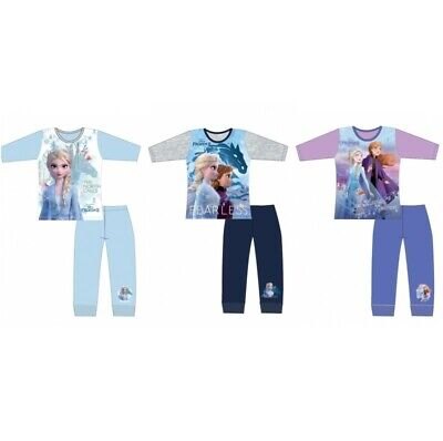 Girls Official Disney Frozen 2 Long Pyjamas Pjs Age 4-10 Years