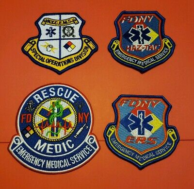 New York City Fire Department EMS Patches SOC