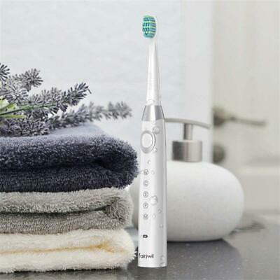Fairywill Electric Toothbrush USB Fast Charge with 4 Toothbrush Heads Waterproof