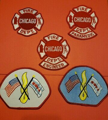 Chicago Illinois Fire Department Patches