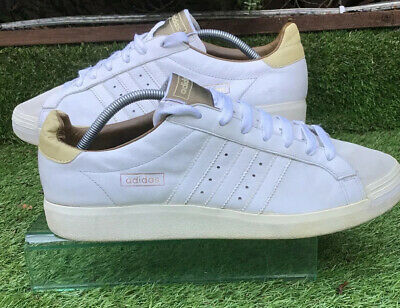 Mens Adidas Originals Tennis Adv Casual Running Trainers White Leather Size 11